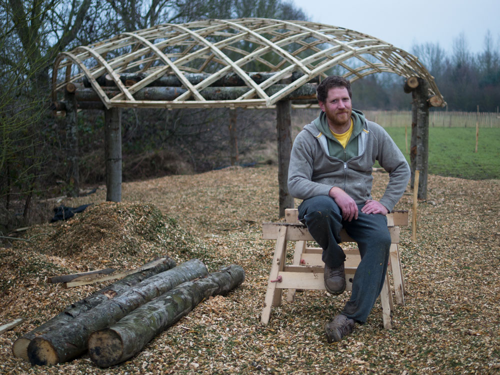 Julian Angus: designer and builder of the Future Forest education building