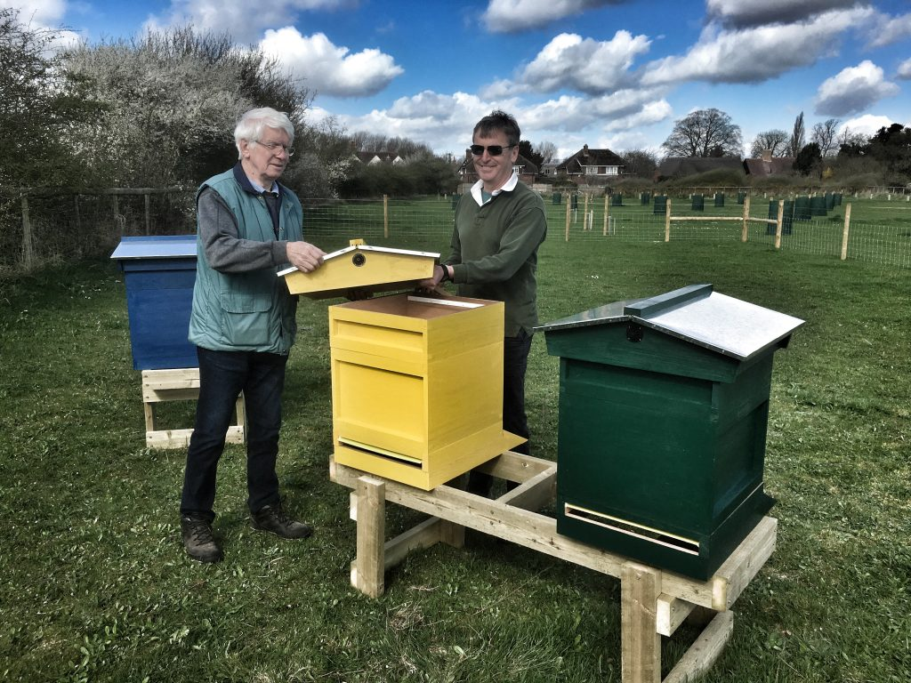 Installing first hives March 2017